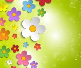 Shiny Floral Backgrounds 8 vectors