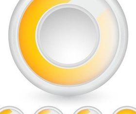 Yellow Progress Icons vector
