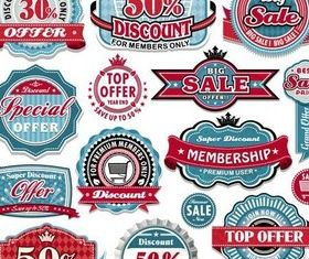 Sale Shiny Labels vector graphic