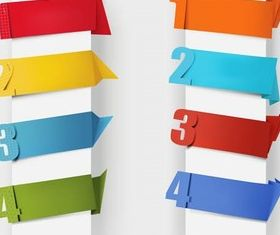 Colorful Numbered Bookmarks vector graphics