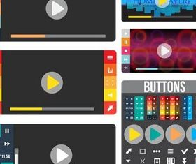 Creative UI Elements shiny vector