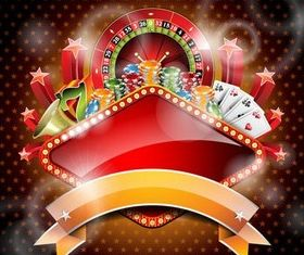 Casino Backgrounds shiny vector