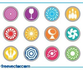Round Icons Set vector