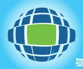 Planet Logo Template shiny vector