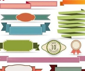 Stylish Ribbons Elements vectors graphic