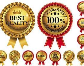 Shiny Luxury Sale Labels vector