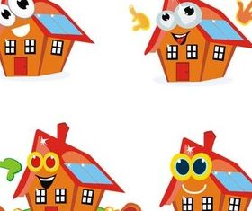 Houses free vector design