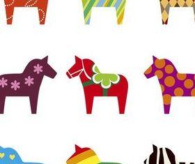 Color Horse Symbols vector