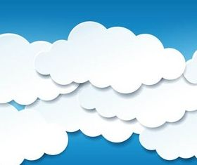 Clouds Backgrounds vector set