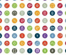 Flat Shiny Icons vector graphics