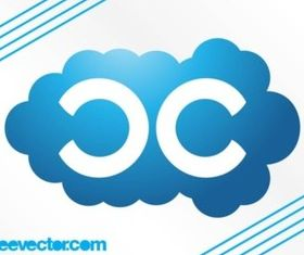 Cloud Logo Template vector material