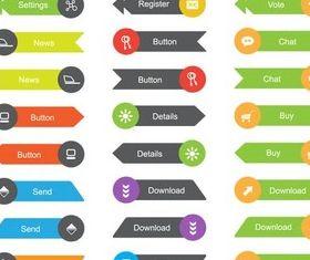 Flat Design Elements vector