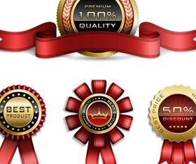 Stylish Royal Badges vectors graphics