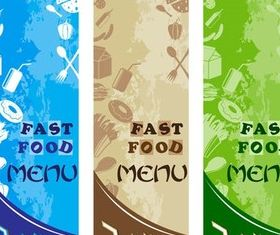 Fast Food Banners vector