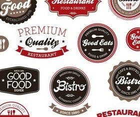 Restaurant Labels vector