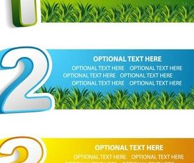 Option Banners vector material