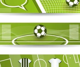 Football Bright Banners Illustration vector