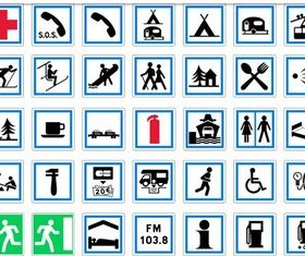 Symbols graphic vector material
