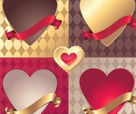 Color Hearts Elements set vector