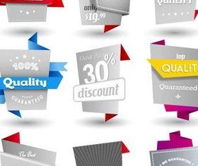 Origami Guarantee Elements vector