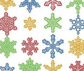 Color Snowflakes vector