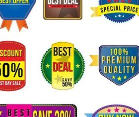 Sale Stickers design vector