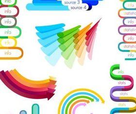 Shiny Color Diagrams vector