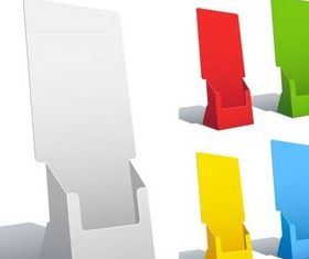 Color Paper Holders vector