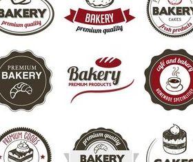 Food Retro Labels vector