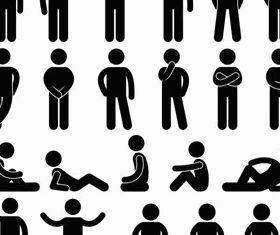Man Icons vector graphics