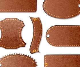 Leather Stickers vector