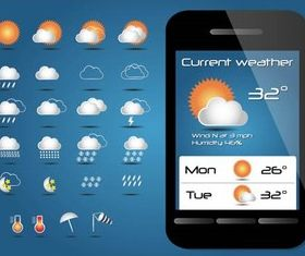 Weather Shiny Icons vectors