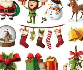 Christmas Attributes set vector