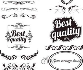 Quality Labels design vector