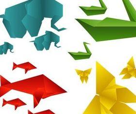 Origami Animals vector graphic