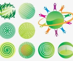 Eco World Icons vector