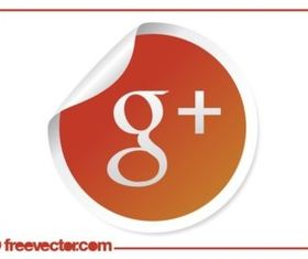 Google Plus Icon set vector