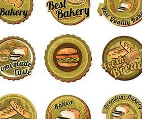 Green Bakery Labels vector