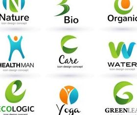 Creative Natural Logo set vector