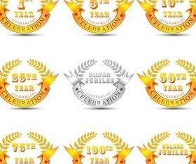 Jubilee Labels vector graphic