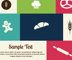 Food elements background 2 vectors material