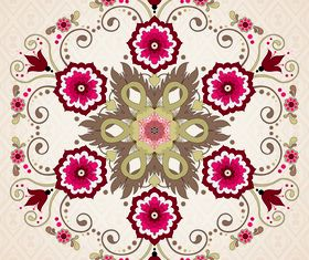 Floral patterns 4 vector