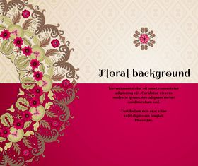 Florals backgrounds 20 vector