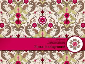 Florals backgrounds 21 vector