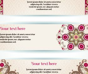 Floral banner 1 vector