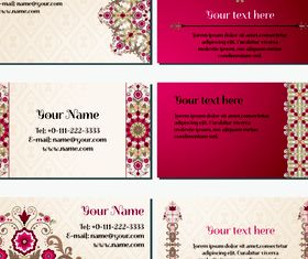 Floral business card 2 vectors