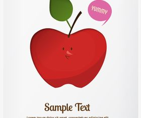 Apple background 1 Illustration vector