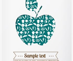 Apple background 4 Illustration vector