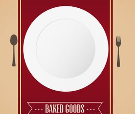 Baked menu background 1 design vector