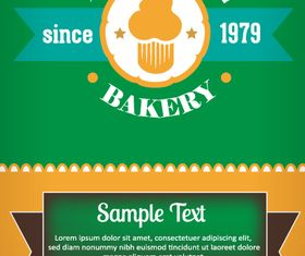 Baked menu background 2 design vector